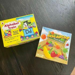 Preschool game & puzzle alphabet avalanche fruit
